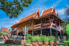 His style home in ancient Thailand. Royalty Free Stock Photography