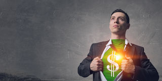 His super abilities. Mixed media royalty free stock images