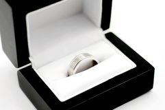 His white gold ring Royalty Free Stock Photography