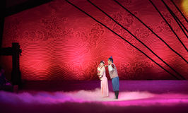 """And his wife and children goodbye-Dance drama """"The Dream of Maritime Silk Road"""". Dance drama """"The Dream of Maritime Silk Road"""" centers on the plot of two Stock Photo"""