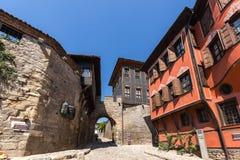 Hisar Kapia - αρχαία πύλη στην παλαιά πόλη Plovdiv, Βουλγαρία Στοκ Φωτογραφίες