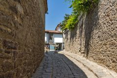 Hisar Kapia - αρχαία πύλη στην παλαιά πόλη Plovdiv, Βουλγαρία Στοκ Εικόνες