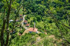 Hisardzik is an old mosque in Serbia.  Royalty Free Stock Photography