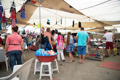 HISARONU, TURKEY - AUGUST 25TH 2014 - Unidentified shoppers at t Royalty Free Stock Photography