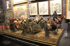 Hisart, παγκόσμιος πρώτος και μόνο Diorama μουσείων ιστορίας διαβίωσης στοκ φωτογραφία
