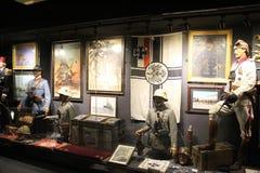 Hisart, eerste van de Wereld en slechts het leven Diorama van het geschiedenismuseum Stock Afbeeldingen