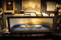 Hisart, eerste van de Wereld en slechts het leven Diorama van het geschiedenismuseum Stock Foto's