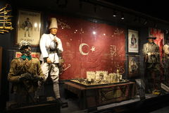 Hisart, monde premier et seulement diorama vivant de musée d'histoire Image stock