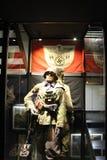 Hisart världar först och endast bosatt historiemuseumDiorama som föreställer den tyska militären Royaltyfri Foto