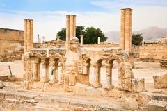 Hishams slott i Jericho. Israel arkivbilder