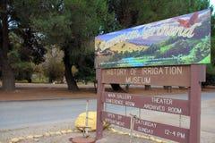 Hisitory del museo di irrigazione, re City, California Immagini Stock Libere da Diritti