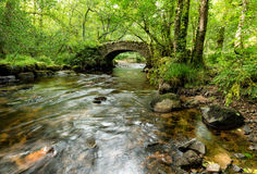Hisley Bridge on Dartmoor Stock Images