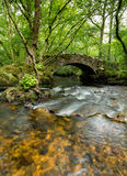 Hisley Bridge on Dartmoor Stock Photo