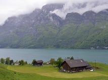 Hisnande landskap av Schweiz Royaltyfria Bilder