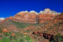 hisnande nationalparksiktszion Royaltyfri Bild