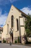 Hisoric Manastirii教会在Sighisoara城堡  库存照片