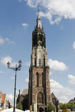 Hisorical medieval New Church in Delft Royalty Free Stock Photo