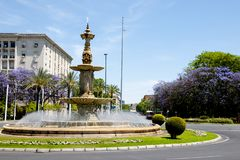 Four Seasons Fountain. Seville - Spain royalty free stock images