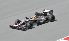 Hispania Racing F1 driver Karun Chandhok Stock Photo