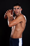 Hispanic american football player Stock Image