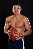 Hispanic american football player Royalty Free Stock Photography