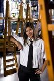 Hispanic Bartender At Closed Bar Royalty Free Stock Photo