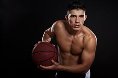 Hispanic basketball player Stock Photo