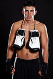 Hispanic boxer. A portrait of a hispanic male boxer Royalty Free Stock Photo