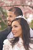 Hispanic Bridal Couple stock image