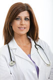 Hispanic brunette healthcare professional Stock Images