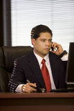 Hispanic Business Man On Cellphone Royalty Free Stock Photo