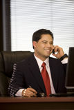 Hispanic Business Man On Cellphone Stock Photos