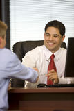 Hispanic Business Man in Hand Shake Stock Photography