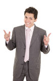 Hispanic business man pointing at something Stock Photography