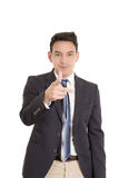 Hispanic business man pointing at you Royalty Free Stock Photo