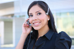 Hispanic Business Woman on Phone Royalty Free Stock Images