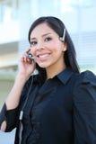Hispanic Business Woman on Phone Stock Photo