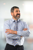 Hispanic Businessman with Arms Crossed Royalty Free Stock Images