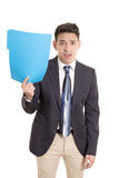 Hispanic businessman with folder Stock Image