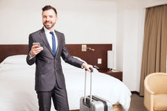 Hispanic businessman in a hotel Stock Photo