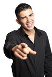 Hispanic businessman pointing Royalty Free Stock Photos