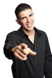 Hispanic businessman pointing Royalty Free Stock Photos