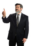 Hispanic Businessman Pointing Stock Photography