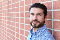 Hispanic Businessman Smiling Outside Office Stock Photography