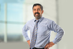 Hispanic Businessman Smiling Stock Photography