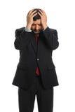 Hispanic Businessman Stressed Royalty Free Stock Photography