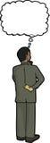 Hispanic Businessman Thinking Stock Image