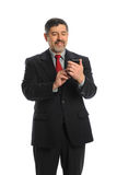 Hispanic Businessman Using Cellphone Royalty Free Stock Image