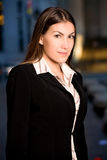 Hispanic Businesswoman in City Royalty Free Stock Photography