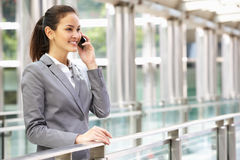 Hispanic Businesswoman Outside Office Royalty Free Stock Photography